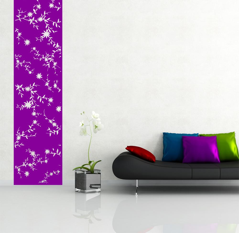Blumen Wandbanner sticker Wandtattoo Wandtattoos wohnzimmer Dekoration