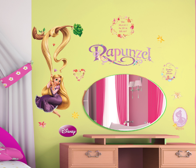 disney wandtattoos kinderzimmer aufkleber rapunzel wandsticker. Black Bedroom Furniture Sets. Home Design Ideas