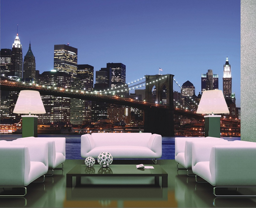 sch ne fototapete new york ny wandbilder wandgestaltung mit fototapeten. Black Bedroom Furniture Sets. Home Design Ideas