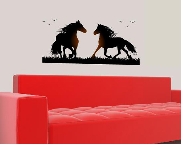 pferd pferde reiten wandtattoo wandtattoos wand aufkleber. Black Bedroom Furniture Sets. Home Design Ideas