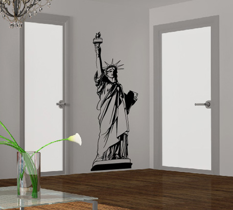 edles wandtattoo freiheitsstatue aufkleber new york. Black Bedroom Furniture Sets. Home Design Ideas