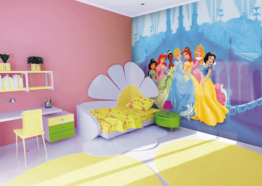 Mädchenzimmer Wandtapete und Prinzessinnen Fototapeten Dekoration