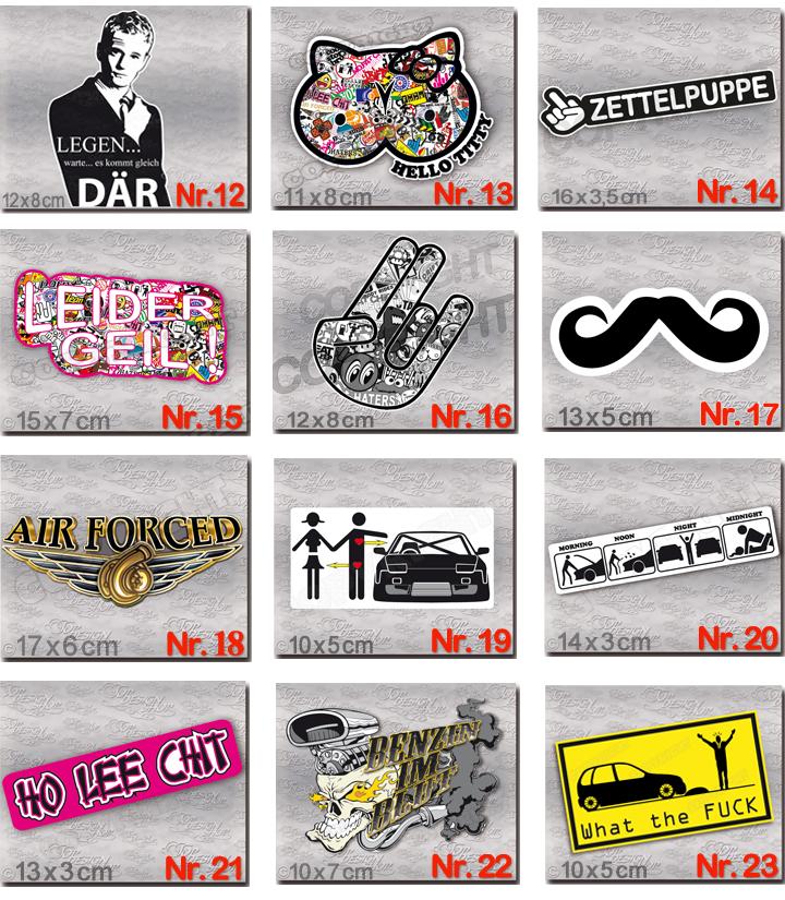 Details Zu Aufkleber Set 10 Stück Skateboard Motorrad Moped Laptop Auto Sticker Dub Style