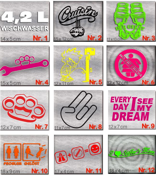 Dub Style Aufkleber Set-Tuning Auto Sticker Und Dub Szene