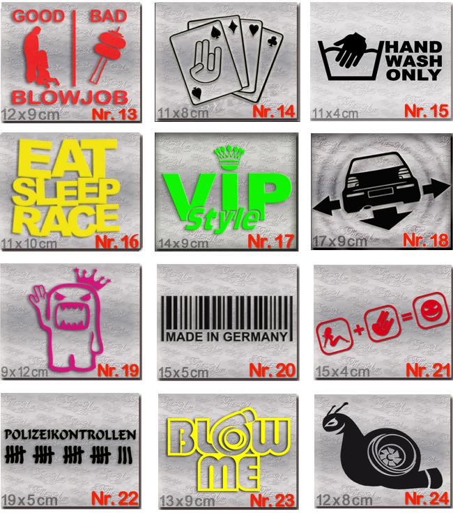 Dub Style Aufkleber Set Tuning Auto Sticker Und Dub Szene Decals