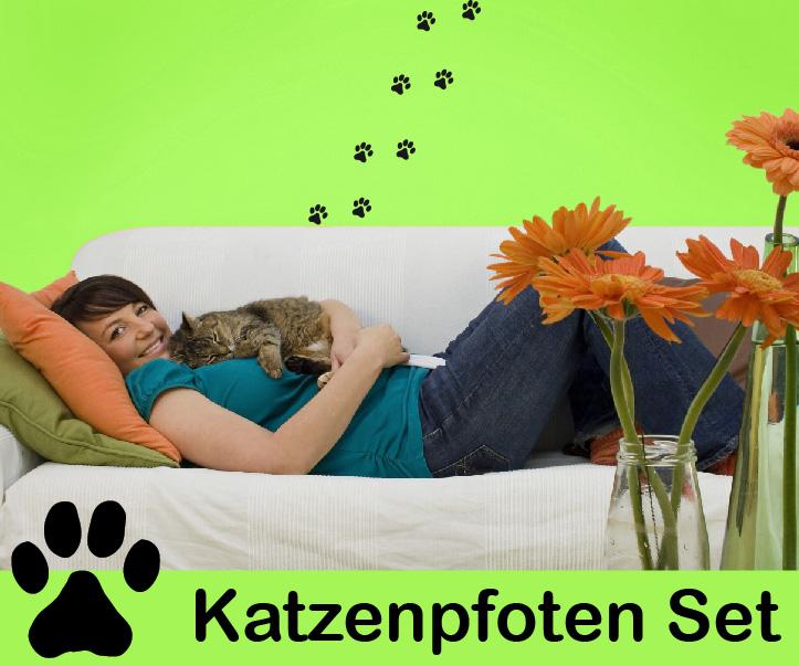 Wandtattoo Katzenpfoten : Katzenpfoten katzen tatzen aufkleber und