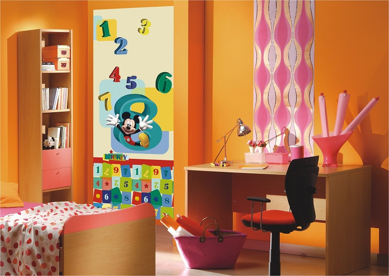 g nstige fototapeten kinderzimmer bunte mickey mouse bildtapeten micky. Black Bedroom Furniture Sets. Home Design Ideas