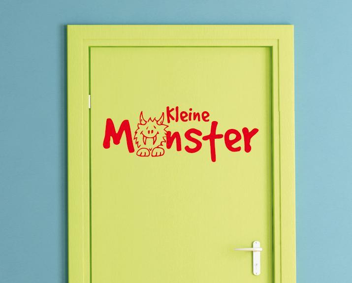 Kleine monster kinderzimmer wandtattoo wandtattoos und for Wandtattoo selber gestalten online
