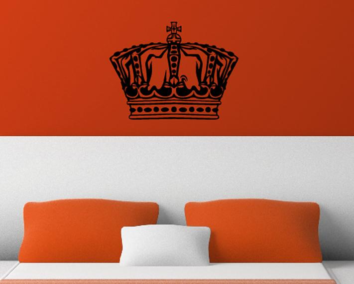 krone aufkleber wandtattoo wandtattoos wandaufkleber. Black Bedroom Furniture Sets. Home Design Ideas