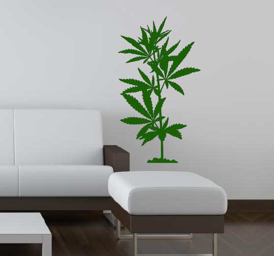 Wandtattoo Wand Aufkleber Marihuana Hanf Wandtattoos