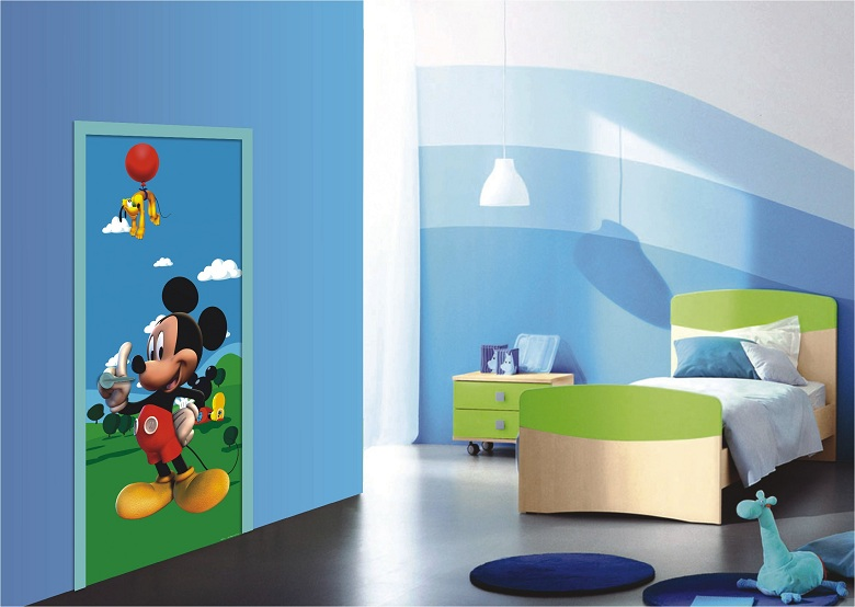 fototapeten kinderzimmer sch ne micky maus t rposter bestellen. Black Bedroom Furniture Sets. Home Design Ideas