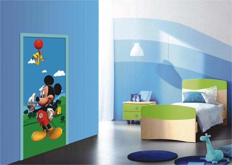 Fototapeten Kinderzimmer schöne Micky Maus Türposter bestellen