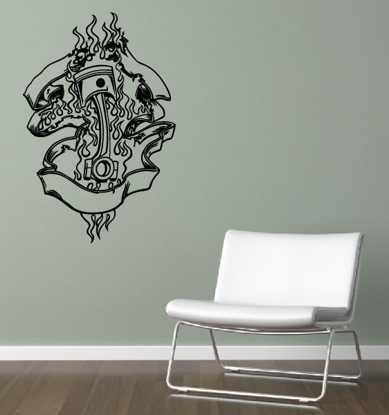 wandtattoo wandtattoos wandaufkleber online shop motor. Black Bedroom Furniture Sets. Home Design Ideas
