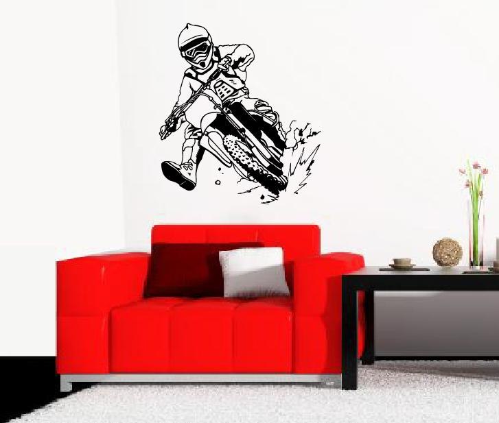 wandtattoo wandtattoos wandaufkleber motorcross aufkleber. Black Bedroom Furniture Sets. Home Design Ideas