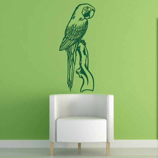 wandtattoo papagei vogel wandsticker. Black Bedroom Furniture Sets. Home Design Ideas
