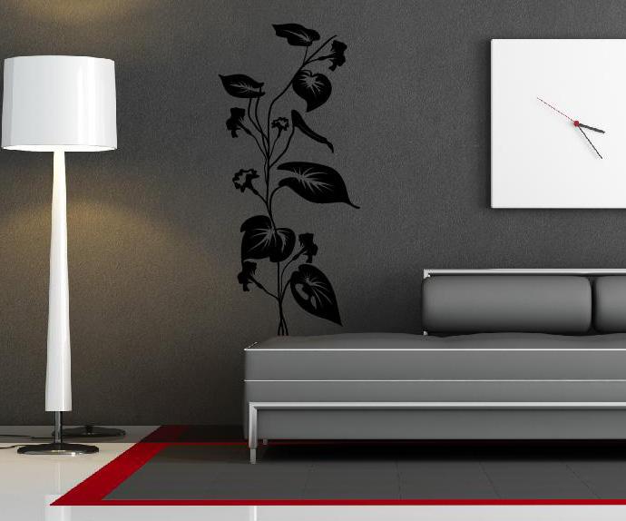 wandtattoo wandtattoos wandaufkleber aufkleber pflanze blume. Black Bedroom Furniture Sets. Home Design Ideas