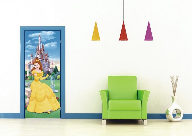 Fototapeten Kinderzimmer G?nstig : Prinzessin mit Schloss Fototapete von Walt Disney f?rs Kinderzimmer.