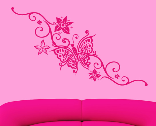 Schmetterling wandtattoo wandtattoos wandaufkleber aufkleber for Schmetterling deko kinderzimmer