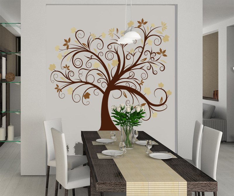 wandtattoo baum wandtattoos und sch ne b ume wandsticker bl tenranken baum. Black Bedroom Furniture Sets. Home Design Ideas