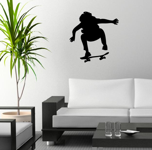 wandtattoo skater wandtattoos aufkleber. Black Bedroom Furniture Sets. Home Design Ideas