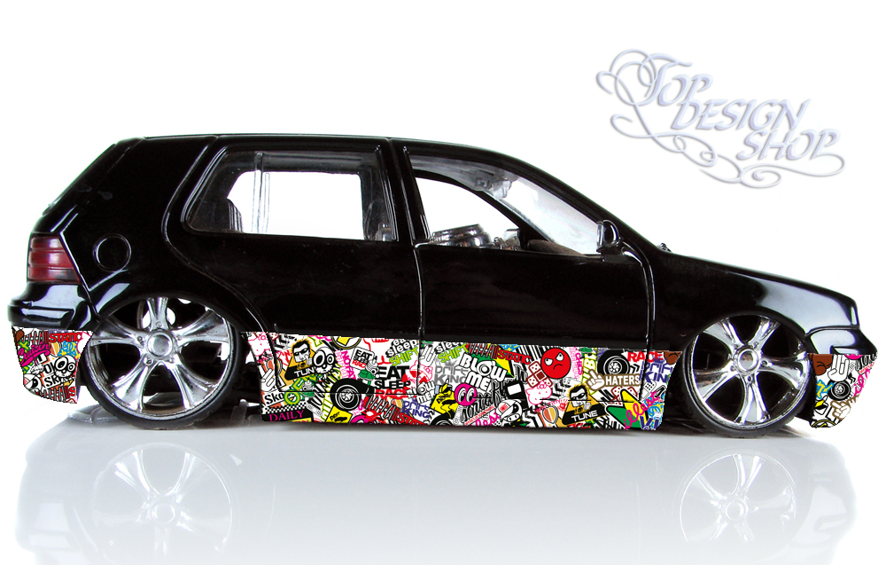 autofolie sticker bomb car wrapping tuning 3d. Black Bedroom Furniture Sets. Home Design Ideas