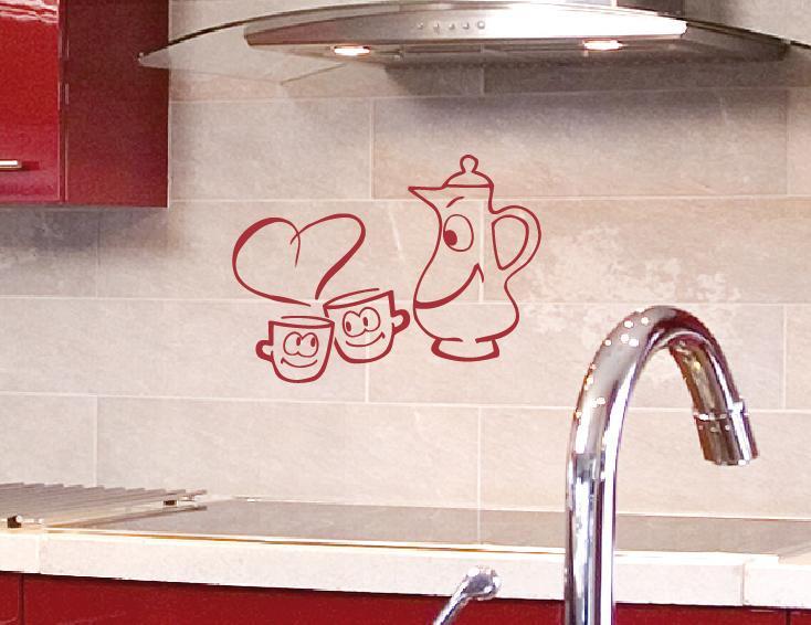 Küchen Tassen Wandtattoo Wandtattoos Und Wandaufkleber Im