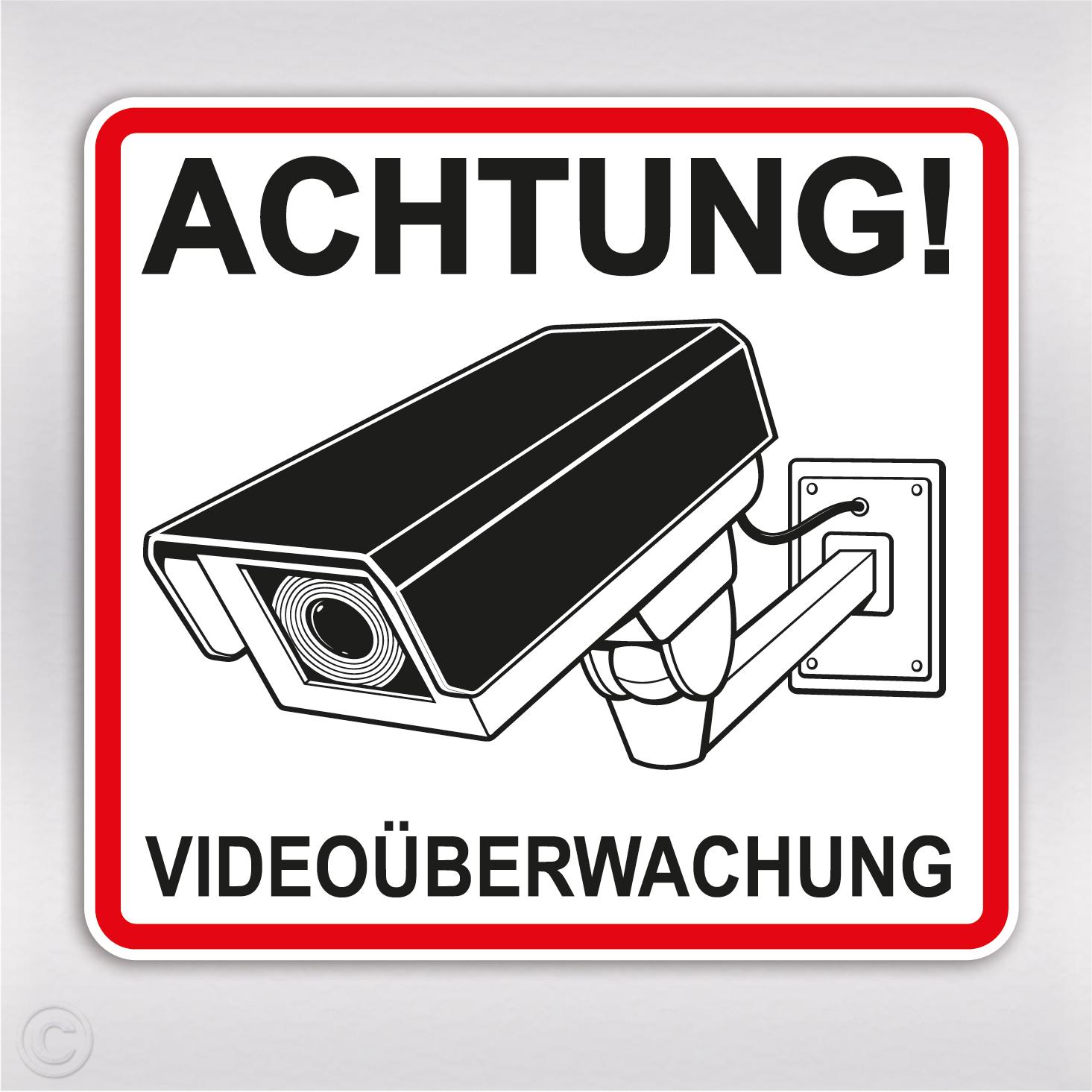 aufkleber video berwachung achtung kamera sticker kaufen. Black Bedroom Furniture Sets. Home Design Ideas