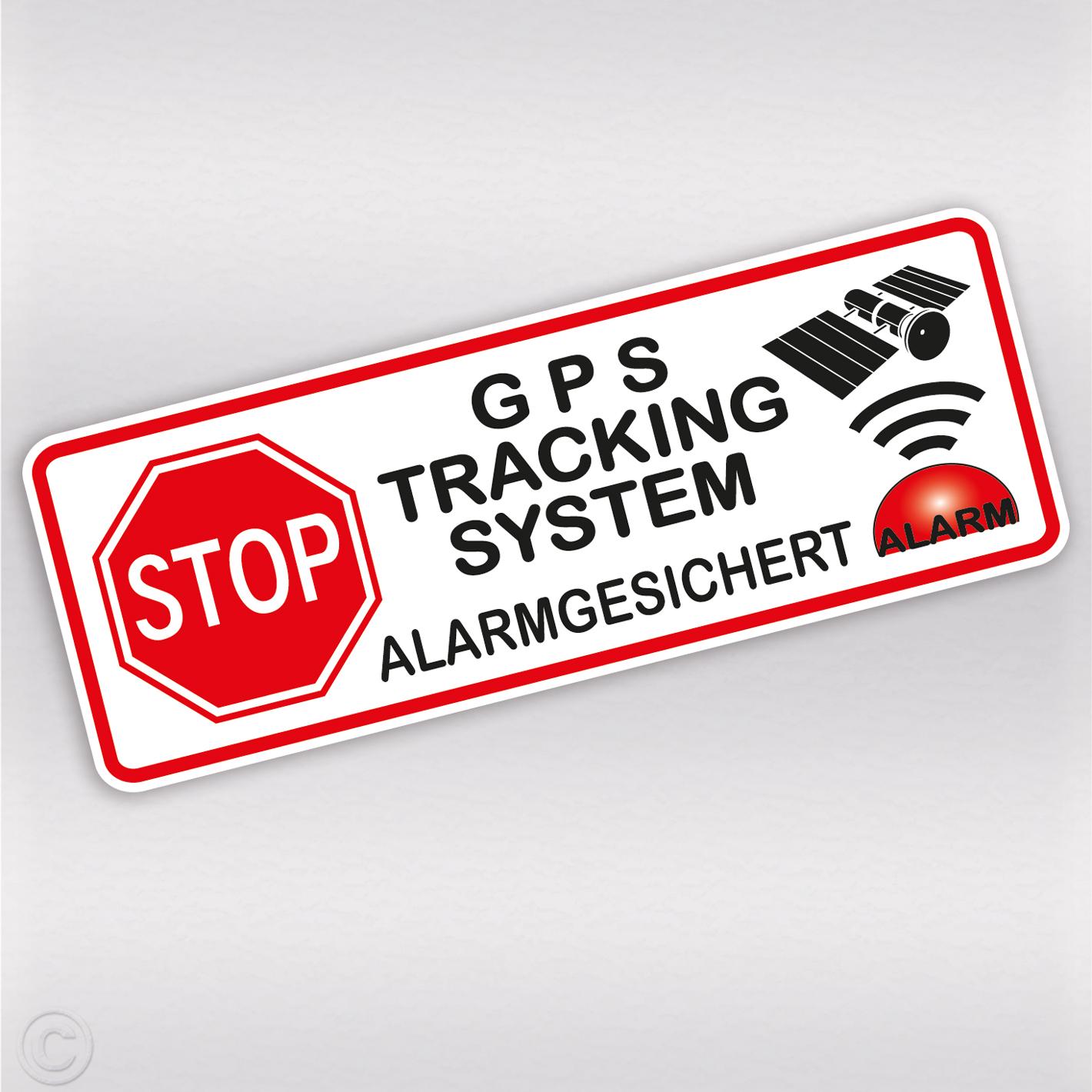Gps Aufkleber Alarmgesichert Auto Fahrrad Diebstahlschutz