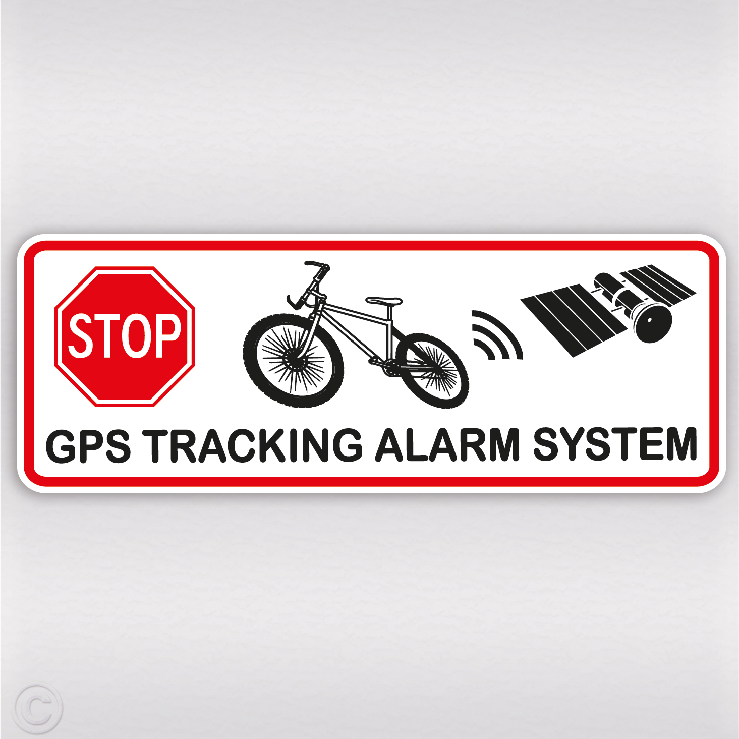gps aufkleber fahrrad diebstahlschutz tracking alarm. Black Bedroom Furniture Sets. Home Design Ideas
