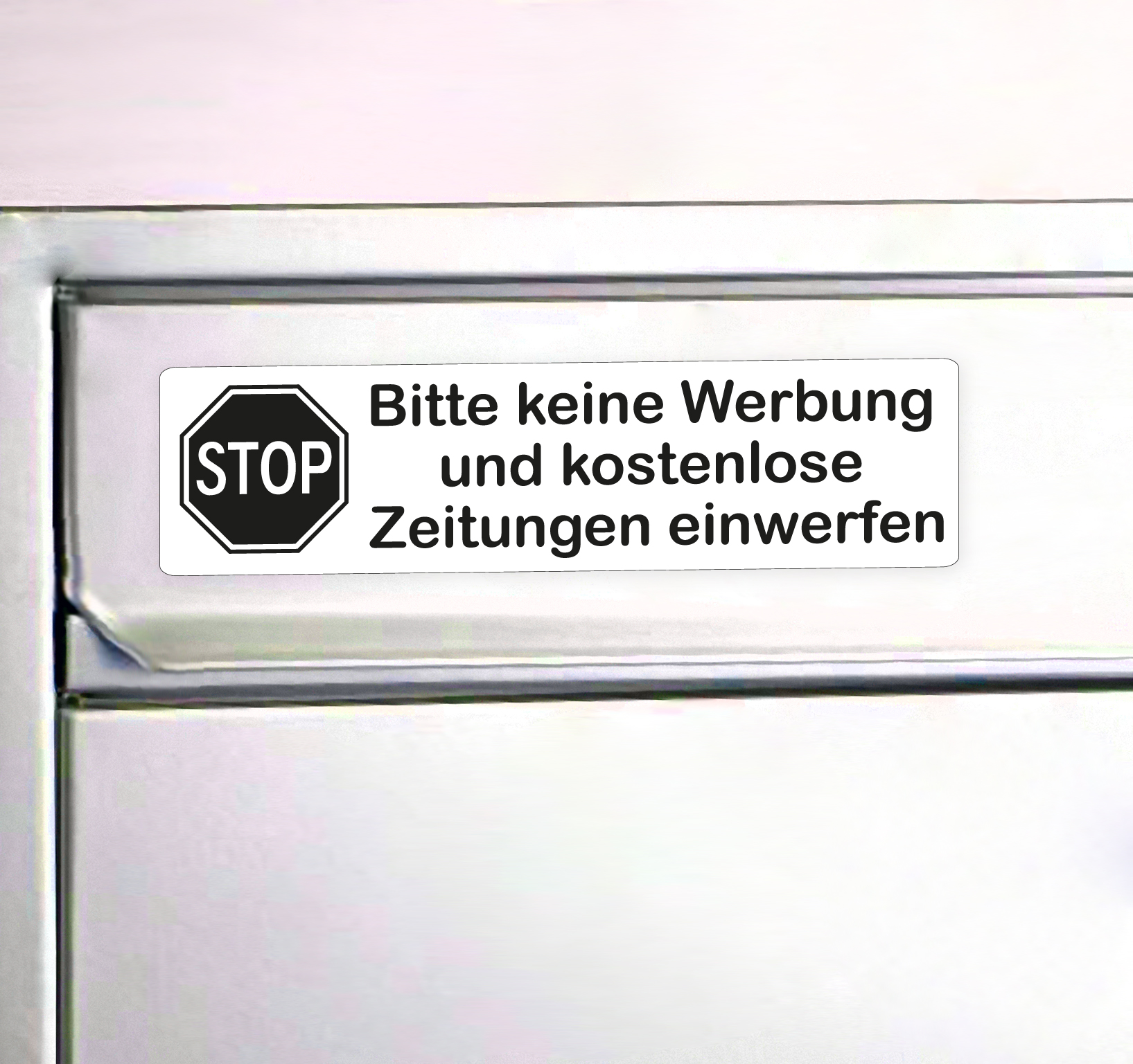 Keine Werbung Aufkleber Mit Stop Schild Design