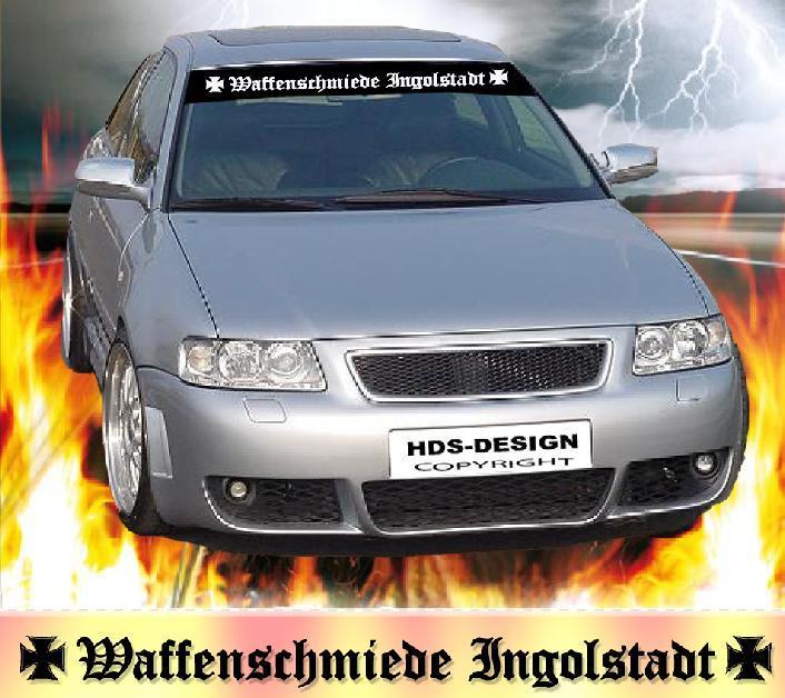 Fun Tuning Auto Aufkleber Fur Audi Fans Fahrer Waffenschmiede Ingolstadt