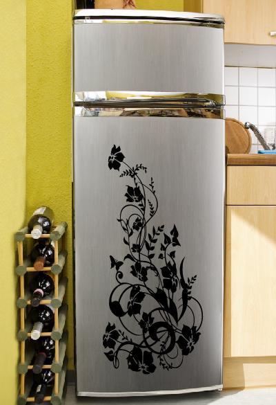 Kühlschrank Aufkleber Hibiskus Wandtattoo Und Blumen Wandsticker