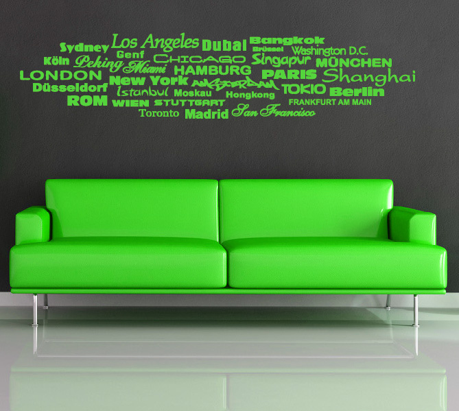 stadt st dte aufkleber wandtattoo wandtattoos wandaufkleber. Black Bedroom Furniture Sets. Home Design Ideas