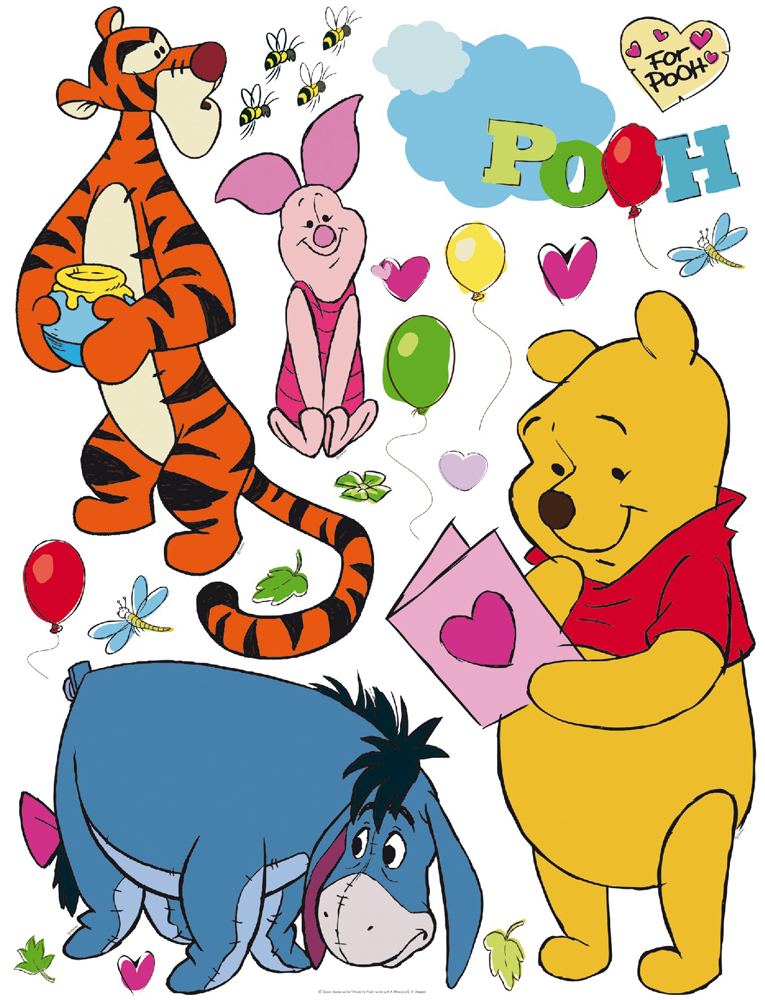 winnie pooh aufkleber kinderzimmer wandtattoos disney dekoration wandsticker. Black Bedroom Furniture Sets. Home Design Ideas
