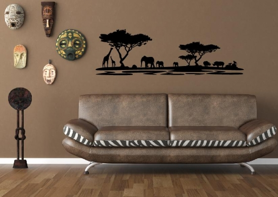 Afrika wandtattoo afrika dekoration wandtattoos safari elefanten wand bild ebay - Dekoration afrika style ...