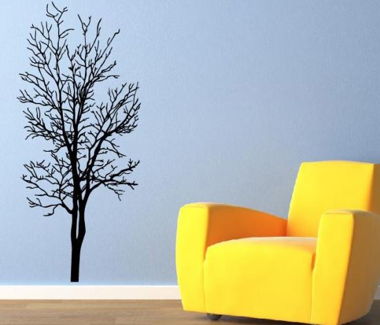 Wandtattoo baum wandaufkleber ast ranke wandsticker for Dekoration wohnzimmer ebay