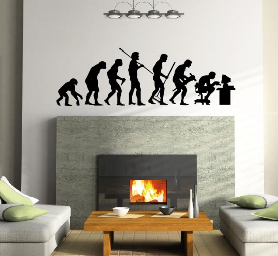 evolution mensch spa wandtattoo wandaufkleber f r arbeit. Black Bedroom Furniture Sets. Home Design Ideas