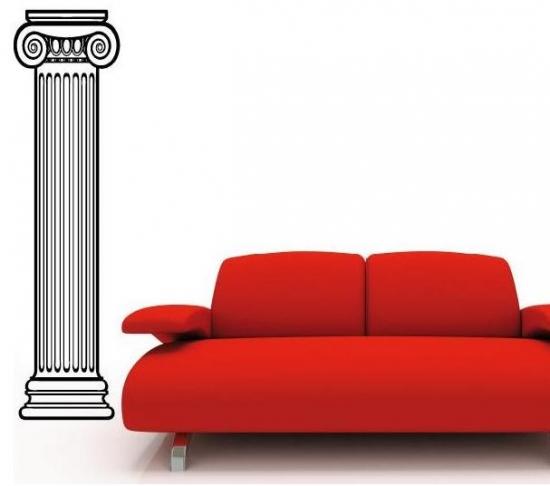 deko s ule wandtattoo wohnzimmer retro antik wandsticker. Black Bedroom Furniture Sets. Home Design Ideas
