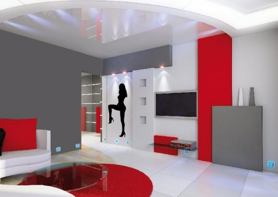 Sexy frau silhouette wandtattoo frauen wandaufkleber wohnzimmer schlafzimmer ebay - Schlafzimmer bei ebay ...