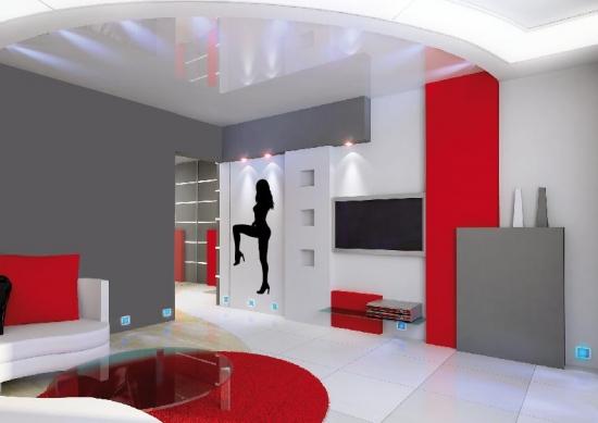 sexy frau silhouette wandtattoo -frauen wandaufkleber wohnzimmer, Deko ideen