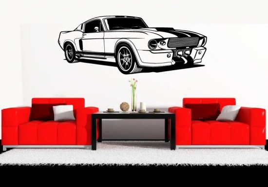 wandaufkleber sportwagen auto cooles wohnzimmer wandtattoo jugendzimmer ebay. Black Bedroom Furniture Sets. Home Design Ideas