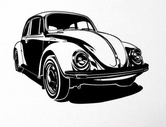 Vw k fer auto wandtattoo wandaufkleber wandbild kult - Wandtattoo cars ...