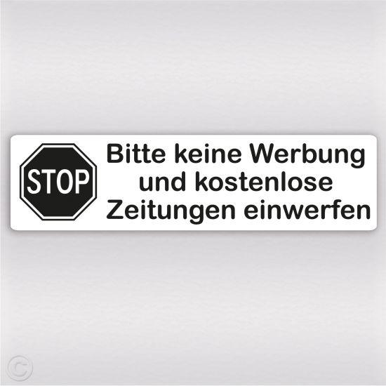 Bitte Keine Werbung Aufkleber Mit Stop Schild Design Wetterfest 4