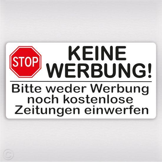 keine werbung aufkleber österreich