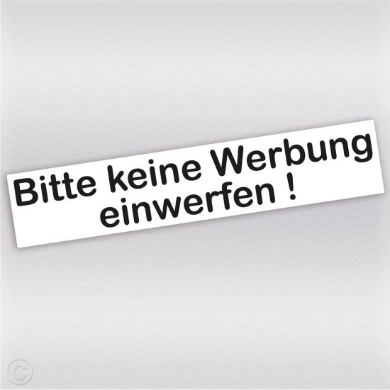 bitte keine werbung einwerfen aufkleber f r den briefkasten anti werbung sticker ebay. Black Bedroom Furniture Sets. Home Design Ideas