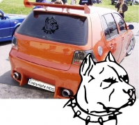 auto sticker pitbull hund