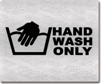 hand wash only sticker autoaufkleber