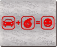 autosticker turbo smiley smilie