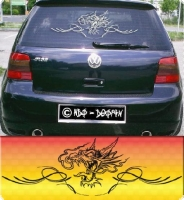 auto aufkleber car sticker drache