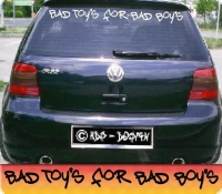 autoaufkleber bad boys toys